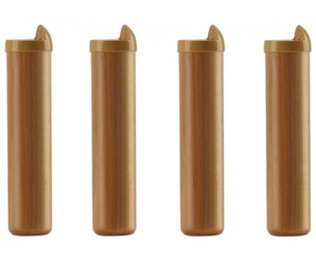 pieds cylindrique bois naturel avec la compagnie du lit. Black Bedroom Furniture Sets. Home Design Ideas