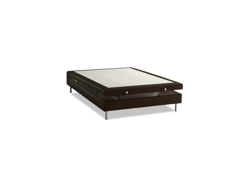 sommier dunlopillo lit coffre cacao avec la compagnie du lit. Black Bedroom Furniture Sets. Home Design Ideas