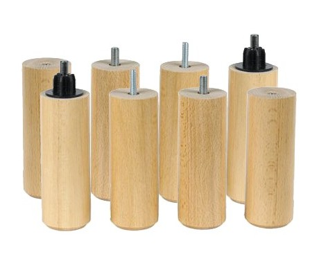 Pieds Cylindre Naturel 17 cm X8