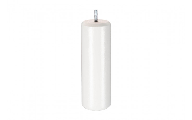 Pied Bois cylindre Blanc 20 cm