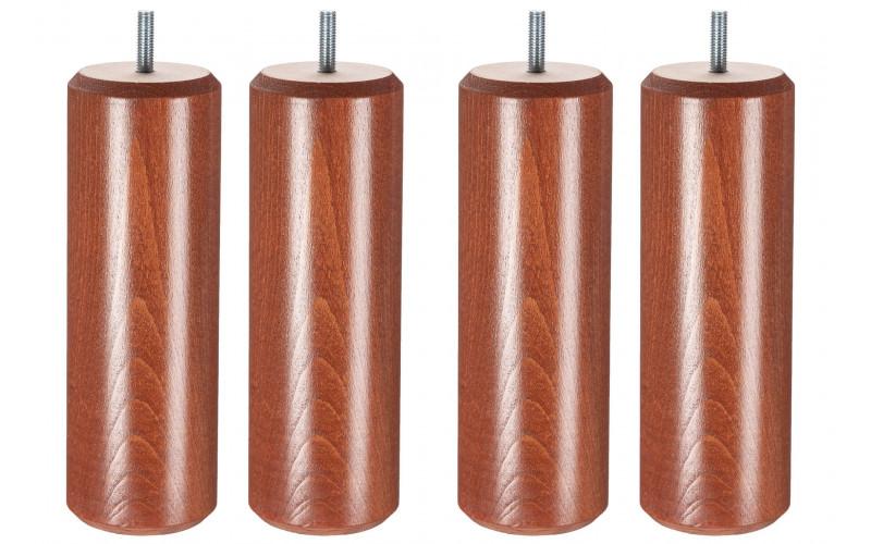 Pied Bois cylindre merisier 20 cm