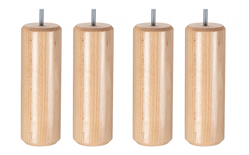 Pied Bois cylindre naturel 20 cm
