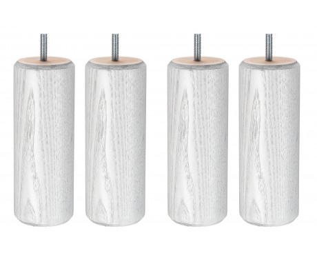 Cylindre Blanc Veine Gris 17 cm
