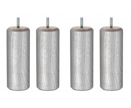 Cylindre Gris Veine Noir 17 cm