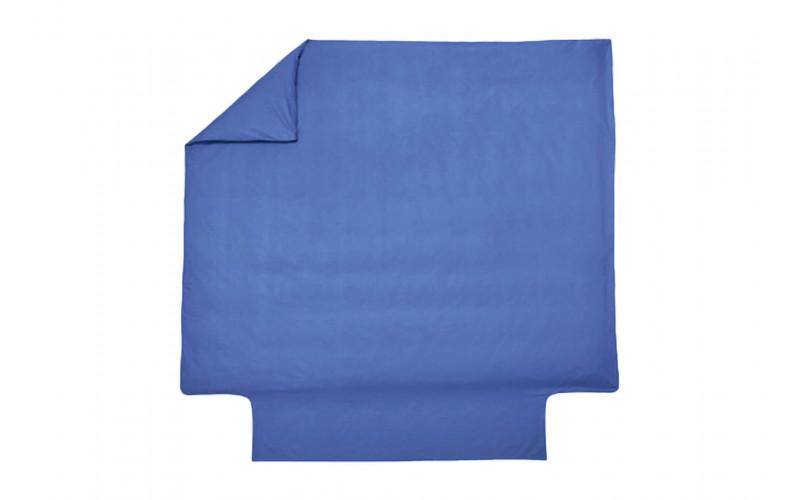 Housse de couette Percale Bleu Royal