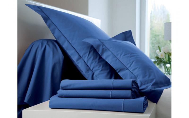 Taie oreiller Percale Bleu Royal