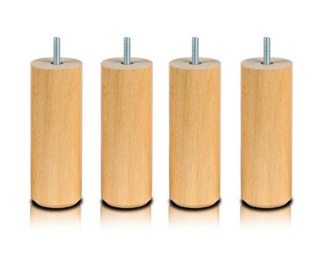 Pieds Cylindre Naturel 25 cm