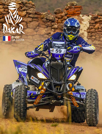 Bruno Da Costa sur son quad en action