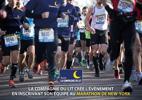 Affiche Marathon de New York avec La Compagnie du Lit
